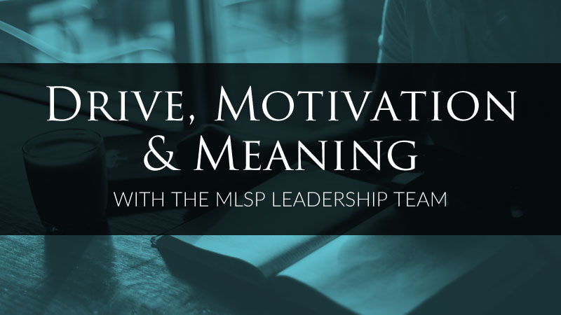 MLSP Leadership's Input on Drive, Motivation and Meaning