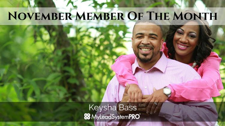 MLSP NOVEMBER MEMBER OF THE MONTH: Keysha Bass