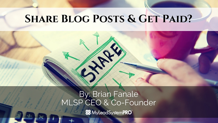 Attention Affiliate Marketers – Share Blog Posts and Get Paid?