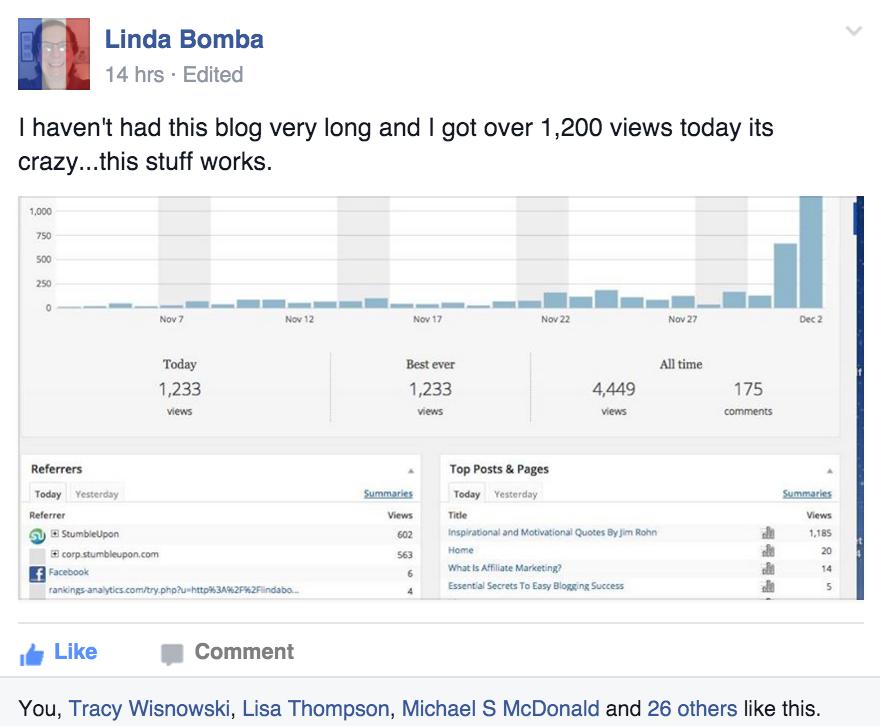 Success Story Saturday - Linda Bomba