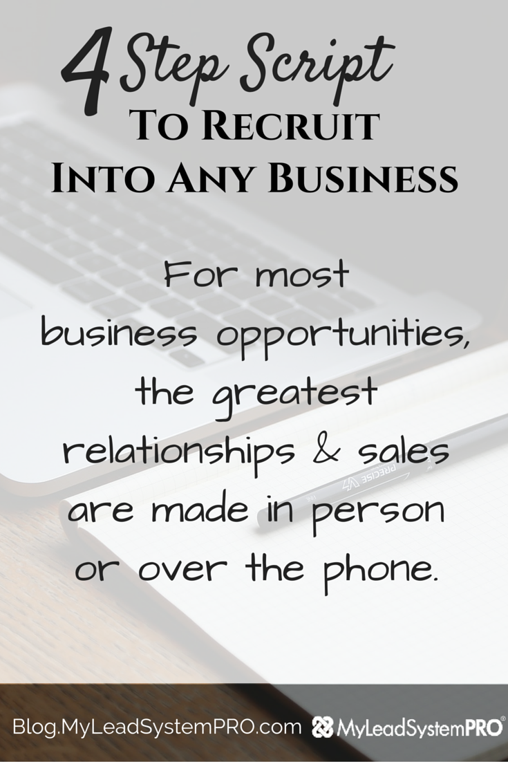 4 Step Script to Recruit Into Any Business