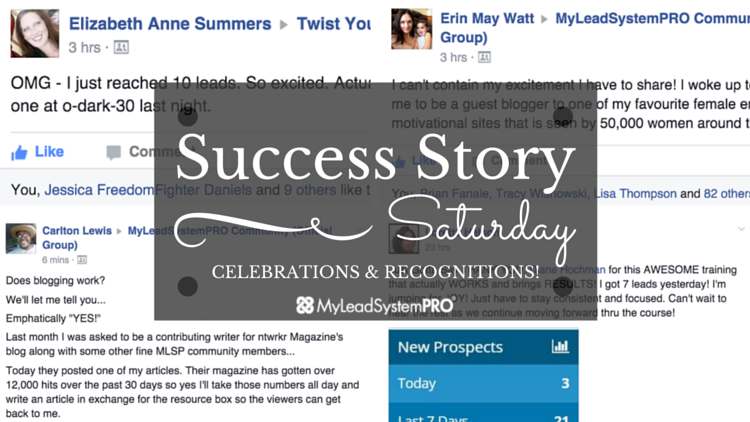 """[Success Story Saturday] """"SWEET! Just Checked the Leaderboards in MLSP…Noticed I'm On Two of Them!"""""""