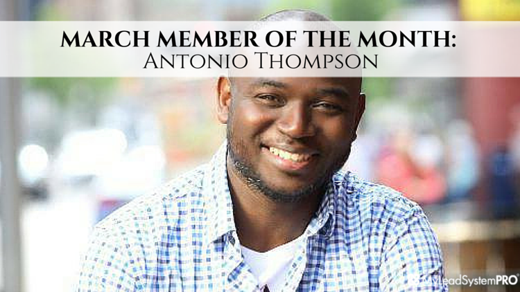 MLSP MARCH MEMBER OF THE MONTH: Antonio Thompson