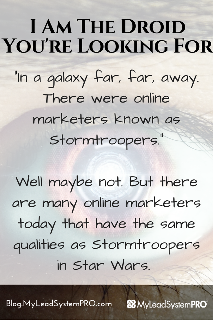 "When it comes to marketing your biz, are you a clone (think Stormtrooper) or a unique Droid (C­3PO!). Lanacia Rachel is giving you 2 ways to know on this post. And pretty soon, people will be saying, ""That IS the droid I'm looking for."""