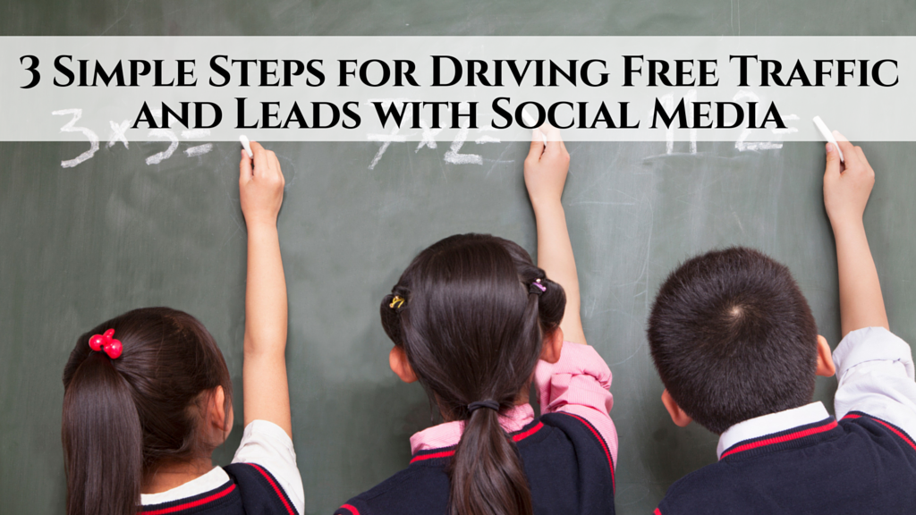 3 Simple Steps for Driving Free Traffic and Leads with Social Media