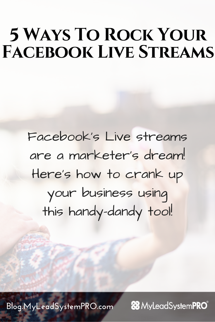 Facebook's Live streams are a marketer's dream! Keysha Bass is cranking up her business using this handy­-dandy tool! On today's Leader Blog Post she's going to show you how to get started right away and make more connections, generate more leads and make more sales using livestream!