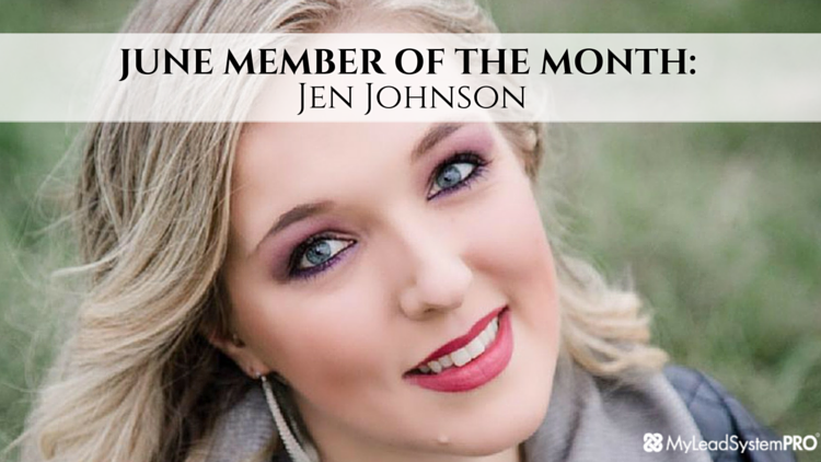 MLSP JUNE MEMBER OF THE MONTH: Jen Johnson