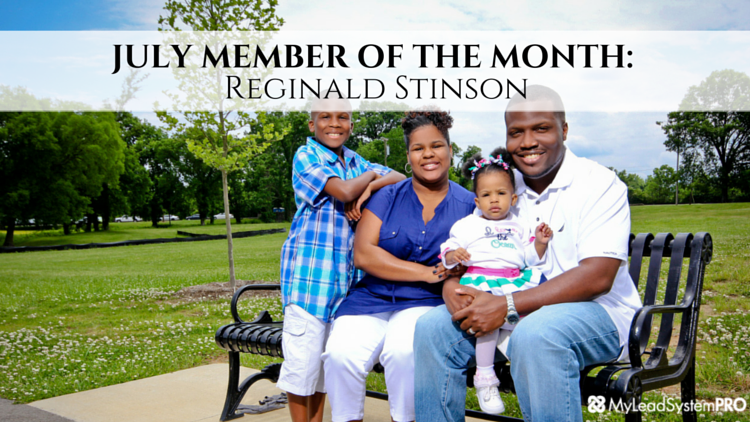 MLSP JULY MEMBER OF THE MONTH: Reginald Stinson