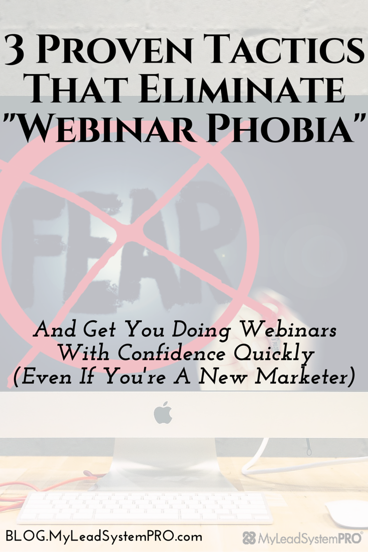 If you feel any fear when you think around hosting your first webinar, YOU ARE NOT ALONE. Take 3 minutes to watch this video, and you will get 3 tactics to eliminate your webinar fears forever.