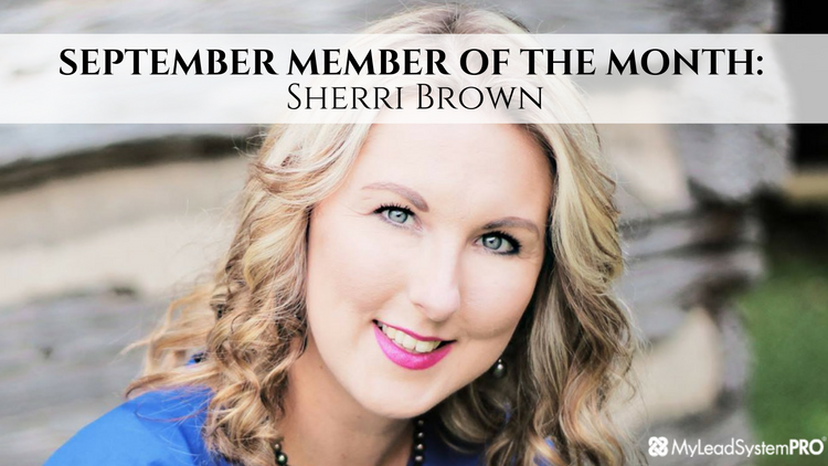 SEPTEMBER Member Of The Month: Sherri Brown