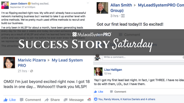 [Success Story Saturday] OMG! I'm Just Beyond Excited Right Now. I Got 18 Leads In One Day!