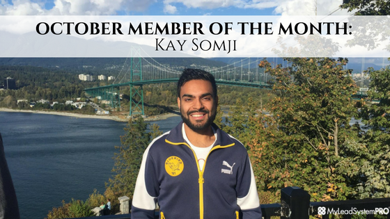 OCTOBER MEMBER OF THE MONTH: Kay Somji