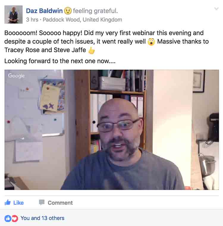 Success Story Saturday - Daz Baldwin