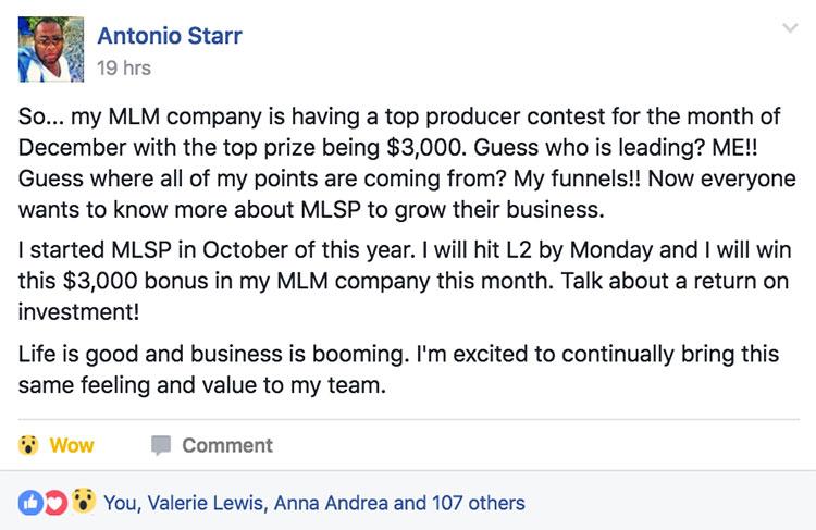 Success Story Saturday - Antonio Starr