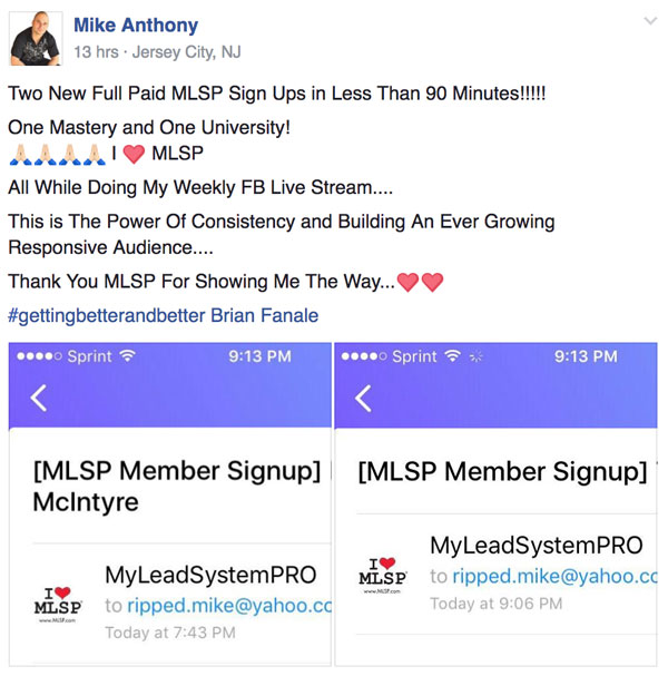 Success Story Saturday - Mike Anthony