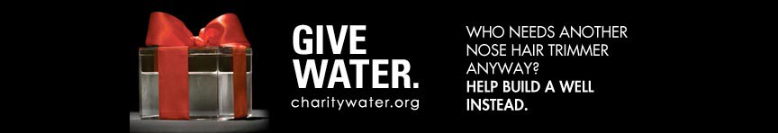 Charity Water Banner