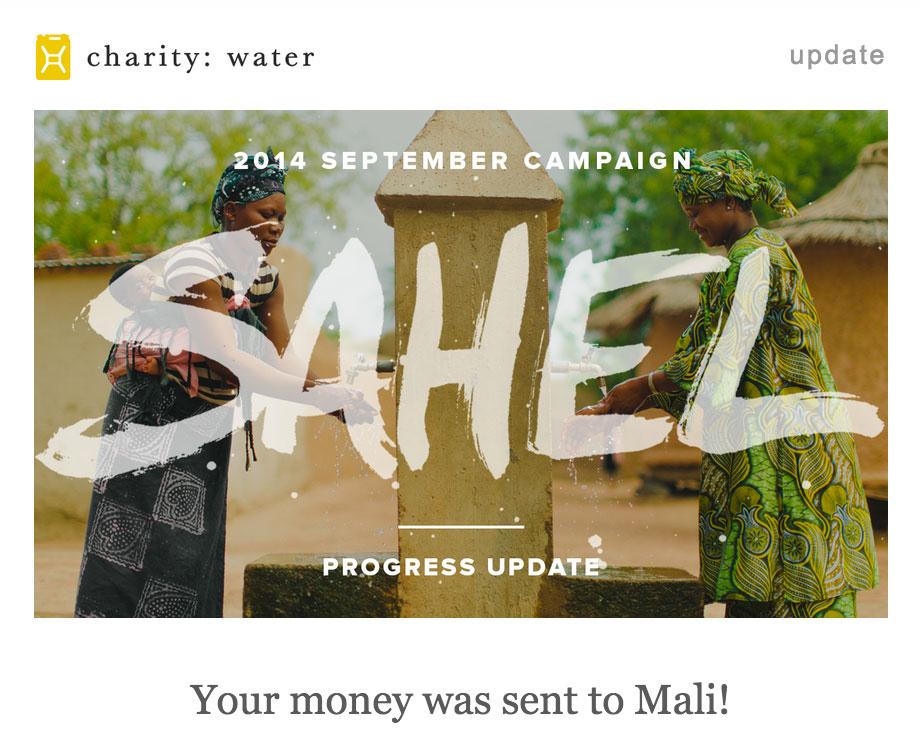 Charity Water - Mali