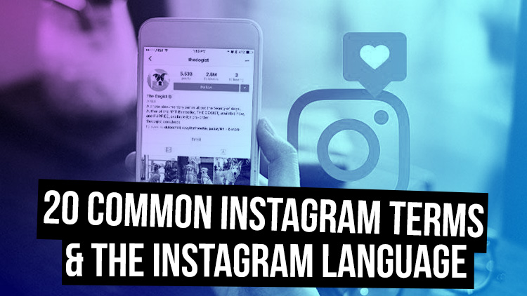 What is an instagram handle and other common instagram terms
