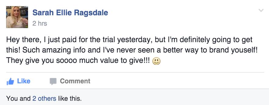 Success Story Saturday - Sarah Ellie Ragsdale