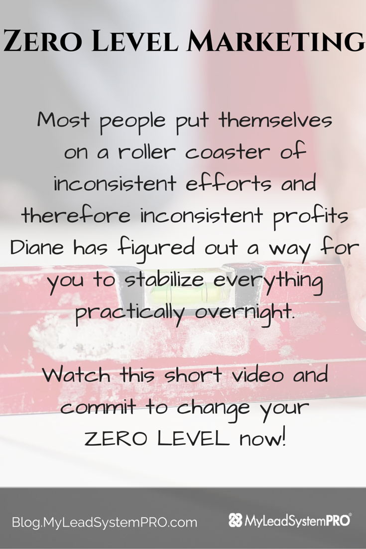 Most people put themselves on a roller coaster of inconsistent efforts and therefore inconsistent profits. Diane has figured out a way for you to stabilize everything practically overnight.