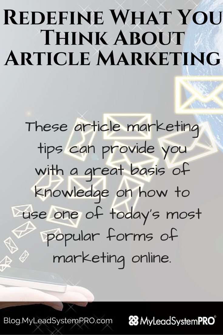 These article marketing tips can provide you with a great basis of knowledge on how to use one of today's most popular forms of marketing online.