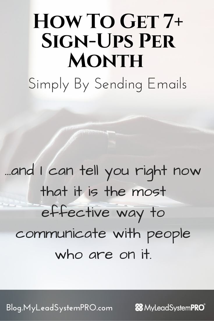 Did you know you could get sign ups to your biz using just simple emails? How cool is that?  Lisa Torres shows you how to do exactly that on this post!
