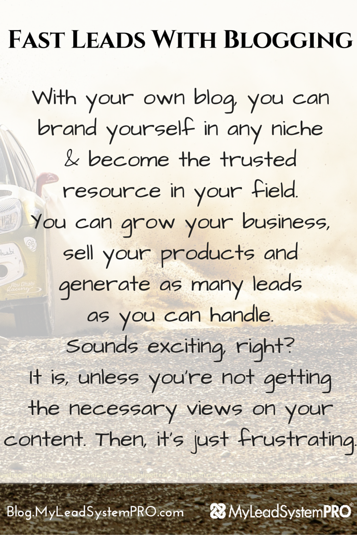 If you've been under the impression that blogging is a slow lead gen strategy, Steve Krivda is going to prove you wrong! Find out How to Get Fast Leads with Blogging!