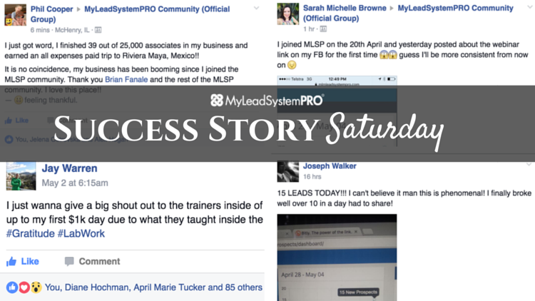 "[Success Story Saturday] ""Just Woke Up to My First $1K Day Due to What They Taught Inside the [MLSP] Community"""