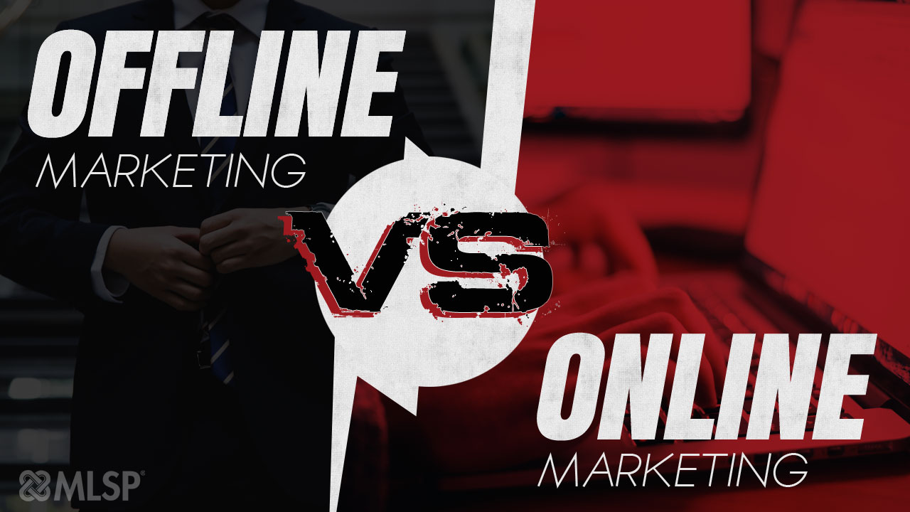 network marketing online vs offline marketing