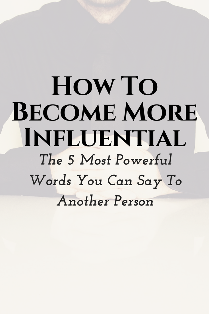 You probably know that your ability to influence will have a direct effect on the size of your bank account.  Did you know there's a five word sentence you can use that will explode your influence over anybody. With any marketing medium.  Industry leader Adam Chandler is going to give you those 5 words and tell you why they work on the latest MLSP Leader Blog post!