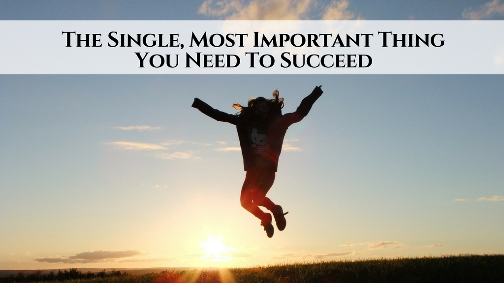 The Single Most Important Thing You Need To Succeed