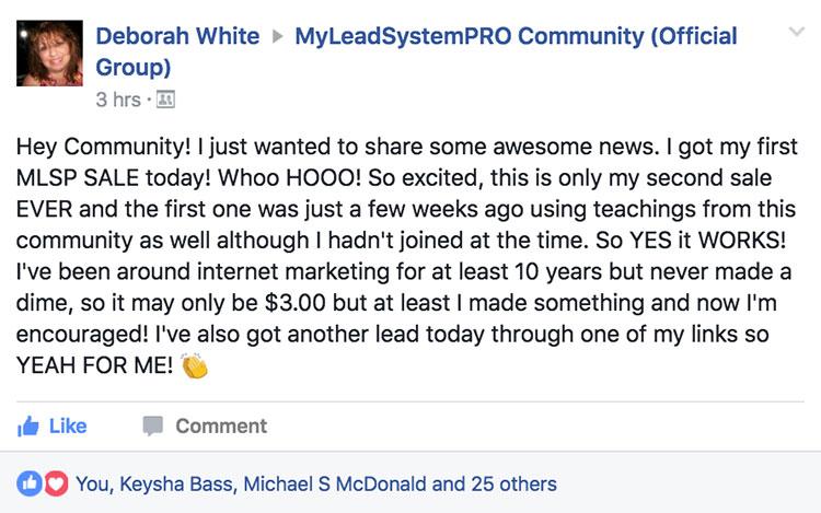Deborah White - MLSP Success Stories