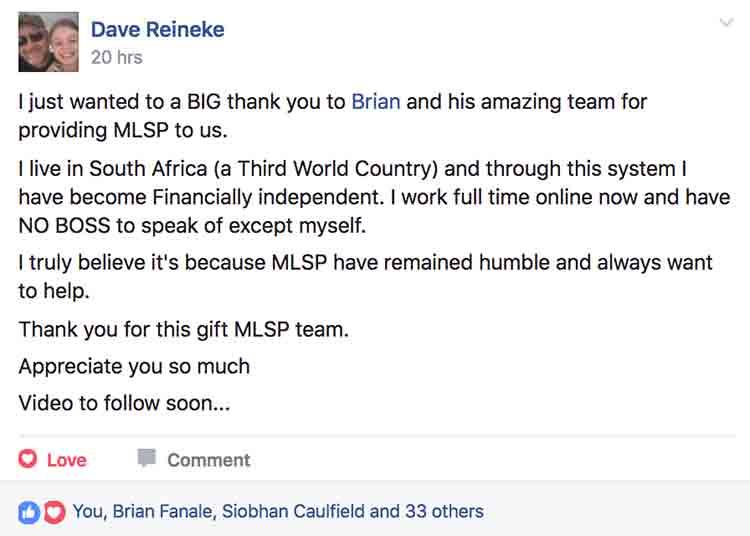 Dave Reineke - MLSP Success Stories