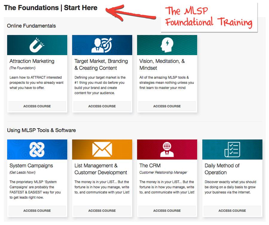 The MLSP Foundational Training