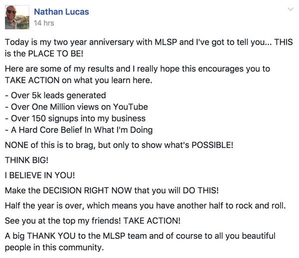 Nathan Lucas Testimonial