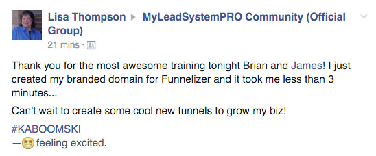Testimonial for MLSP Funnelizer