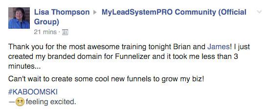 Testimonial for MLSP Funnelizer