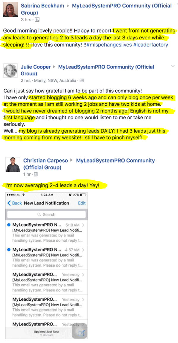 Testimonial for lead generation with MLSP