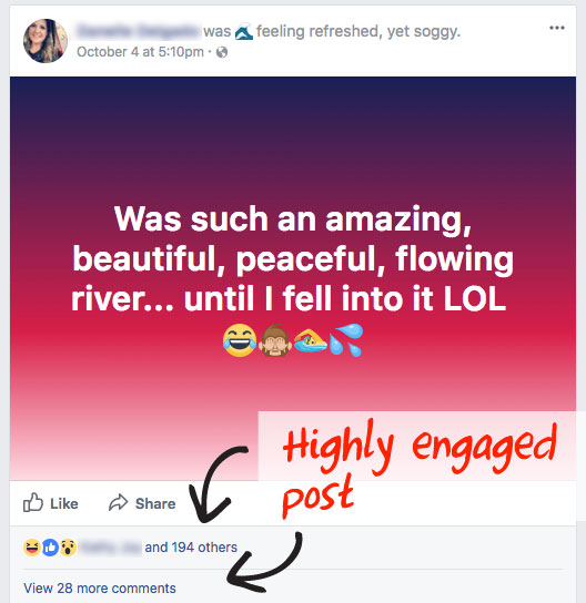 Prospecting on Facebook - A Highly Engaged Post
