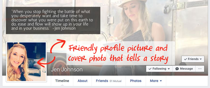 Get your profile ready for prospecting on Facebook