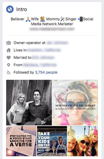 Facebook Into Section
