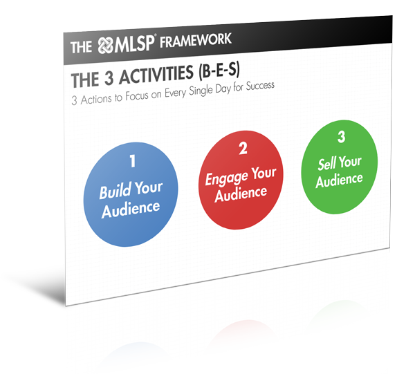 Attraction Marketing Forumla - MLSP Framework 3 Activies