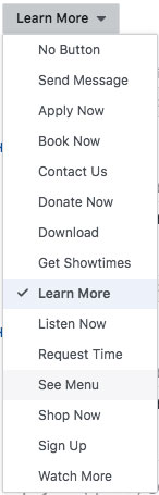 Facebook Ad Call to Action Options
