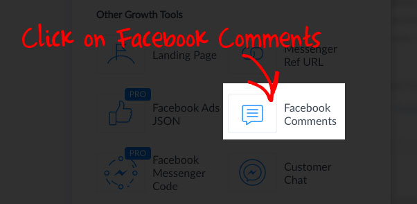Manychat Facebook Comments Tool