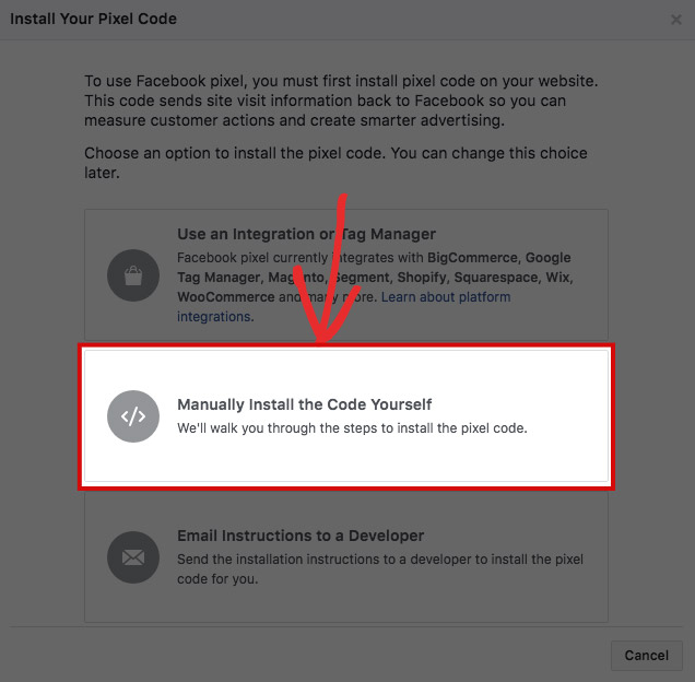 Facebook Retargeting Pixel Installation