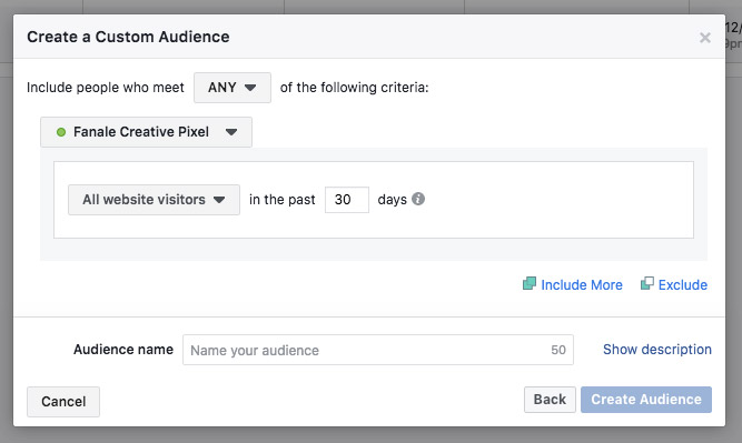 Create your Custom Audience