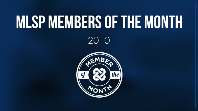 MLSP Members of the Month - 2010