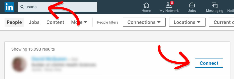 Prospecting on linkedin - the Linkedin Search Bar