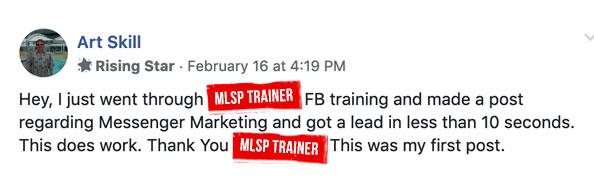 MLSP Testimonial