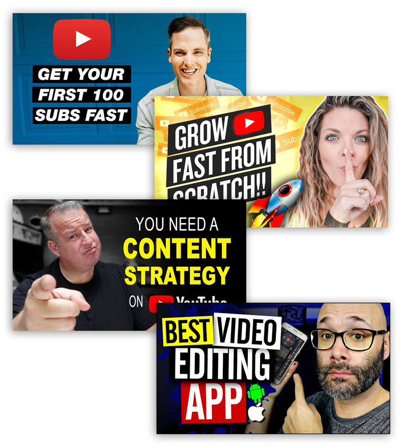 Examples of how to create a youtube thumbnail